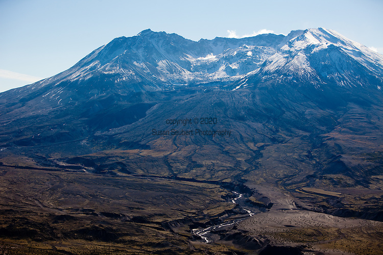 National Geographic Sea Lion's Mt. St. Helens Volcano day trip and hike.  Pictured here is the crater and dome.