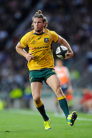 Rob Horne of Australia in action during the Killik Cup match between Barbarians and Australia at Twickenham Stadium on Saturday 1st November 2014 (Photo by Rob Munro)