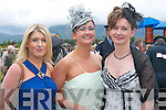 STYLE: Looking stylish on Ladies Day at Killarney Races last Thursday were, l-r: Denise Hartnett, Geraldine Mangan and Fiona Landers from Beaufort..