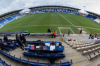 A general view from behind the media positions before Colchester United vs Cheltenham Town, Sky Bet EFL League 2 Football at the Weston Homes Community Stadium on 6th January 2018