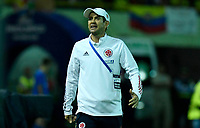ARMENIA – COLOMBIA, 19-01-2020:Arturo Reyes técnico de Colombia durante partido entre Colombia y Ecuador por la fecha 2, grupo A, del CONMEBOL Preolímpico Colombia 2020 jugado en el estadio Centenario de Armenia, Colombia. /  Arturo Reyes coach of Colombia during match against Ecuador of the date 2, group A, for the CONMEBOL Pre-Olympic Tournament Colombia 2020 played at Centenario stadium in Armenia, Colombia. Photos: VizzorImage / Julian Medina / Cont