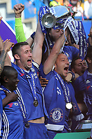 Gary Cahill and John Terry celebrate winning the Premier League during Chelsea vs Sunderland AFC, Premier League Football at Stamford Bridge on 21st May 2017
