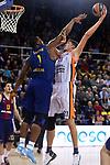 Turkish Airlines Euroleague 2017/2018.<br /> Regular Season - Round 8.<br /> FC Barcelona Lassa vs Valencia Basket: 89-71.<br /> Kevin Seraphin vs Tibor Pleiss.