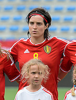20150523 - SINT-TRUIDEN ,  BELGIUM : Belgian Cecile De Gernier pictured during the friendly soccer game between the Belgian Red Flames and Norway, a preparation game for Norway for the Women's 2015 World Cup, Saturday 23 May 2015 at Staaien in Sint-Truiden , Belgium. PHOTO DAVID CATRY