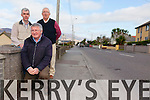Residents on Cahersiveen's Valentia Road  are still concerned over flooding issues pictured here front Christy O'Connell with back l-r; Nelius Barry & John O'Connor.