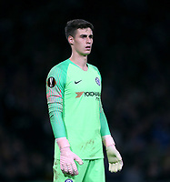 Chelsea's Kepa Arrizabalaga<br /> <br /> Photographer Rob Newell/CameraSport<br /> <br /> UEFA Europa League - Group L - Chelsea v MOL Vidi - Thursday 4th October 2018 - Stamford Bridge - London<br />  <br /> World Copyright © 2018 CameraSport. All rights reserved. 43 Linden Ave. Countesthorpe. Leicester. England. LE8 5PG - Tel: +44 (0) 116 277 4147 - admin@camerasport.com - www.camerasport.com