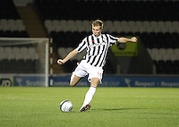 Marc McAusland in the St Mirren v Hamilton Academical Scottish Communities League Cup match played at St Mirren Park, Paisley on 25.9.12.