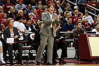 LOS ANGELES, CA - December 29, 2011:  Stanford head coach Tara VanDerveer during the Cardinal's game against the USC Trojans at the Galen Center.   Stanford defeated USC, 61 - 53.