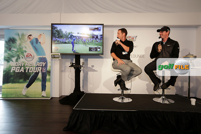 Rory MCILROY (NIR) speaking at his press conference for EA Sports after the Pro-Am TPC Harding Park, 99 Harding Road, San Francisco, CA 94132, United States. 29/04/2015<br /> Picture Fran Caffrey, www.golffile.ie