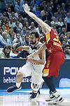 Real Madrid's Sergio Llull (l) and Galatasaray Odeabank Istambul's Jon Diebler during Euroleague, Regular Season, Round 5 match. November 3, 2016. (ALTERPHOTOS/Acero)