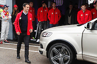 Real Madrid player Ricardo Carvalho participates and receives new Audi during the presentation of Real Madrid's new cars made by Audi at the Jarama racetrack on November 8, 2012 in Madrid, Spain.(ALTERPHOTOS/Harry S. Stamper) .<br />