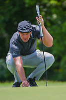 Bryson DeChambeau (USA) looks over his putt on 7 during round 2 of the 2019 Charles Schwab Challenge, Colonial Country Club, Ft. Worth, Texas,  USA. 5/24/2019.<br /> Picture: Golffile   Ken Murray<br /> <br /> All photo usage must carry mandatory copyright credit (© Golffile   Ken Murray)