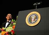 United States President Barack Obama waits to speak at the annual White House Correspondent's Association Gala at the Washington Hilton Hotel, Washington, DC, Saturday, April 30, 2011..Credit: Martin Simon / Pool via CNP