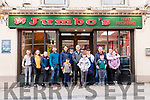 A group photo was taken at Jumbos family Restaurant together with an image of the time capsule wall which will be added to the time capsule container.<br /> The time capsule &lsquo;wall&rsquo; and the &lsquo;container&rsquo; will be covered during Jumbos refurbishment.<br /> Damian O&rsquo;Mahony who is part of the family business said that the wall is expected to stay covered for at least 20 years, with the time capsule container which contains some memorabilia from Listowel town.