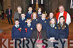 Pupils from Loughquittane National School, Killarney, who were confirmed by Bishop Bill Murphy on Friday in St Marys Cathedral, Killarney..