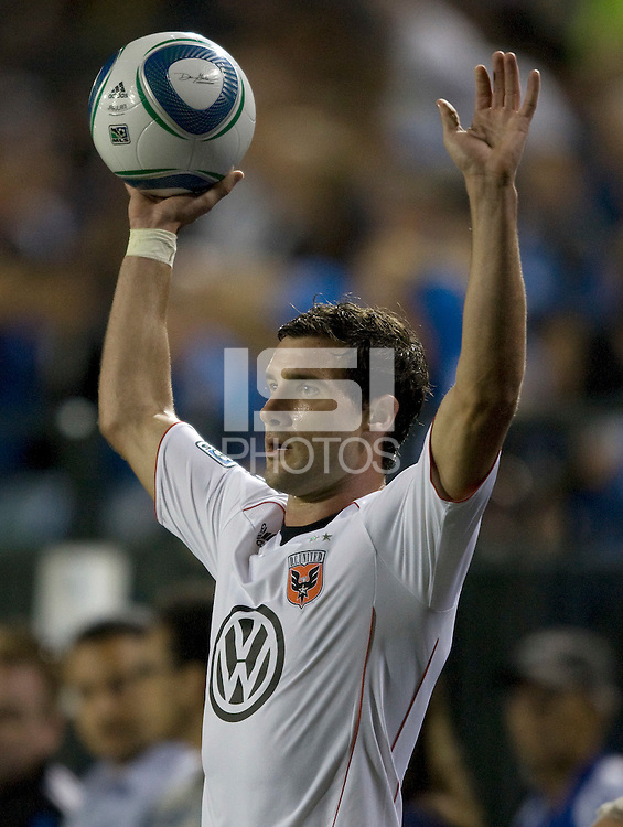 Chris Pontius of DC United in action during the game against the Earthquakes at Buck Shaw Stadium in Santa Clara, California on July 30th, 2011.   DC United defeated San Jose Earthquakes, 2-0.