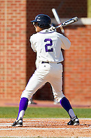 Mike Miedzianowski #2 of the High Point Panthers at bat against the Dayton Flyers at Willard Stadium on February 26, 2012 in High Point, North Carolina.    (Brian Westerholt / Four Seam Images)