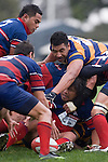 Luke Mealamu watches from the base of a ruck as Jeff Maka reaches over to disrupt Callum Cook retrieval of the ball. CMRFU Counties Power 2008 Club rugby McNamara Cup Premier final between Ardmore Marist & Patumahoe played at Growers Stadium, Pukekohe on July 26th.  Ardmore Marist won 9 - 8.