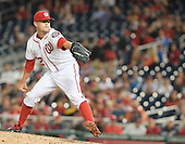 Washington Nationals closer Drew Storen (22) works in the ninth inning against the New York Mets at Nationals Park in Washington, D.C. on Tuesday, September 23, 2014.  Storen earned his tenth save in the Nationals 4 - 2 victory. <br /> Credit: Ron Sachs / CNP<br /> (RESTRICTION: NO New York or New Jersey Newspapers or newspapers within a 75 mile radius of New York City)