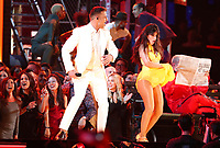 "Ricky Martin, left, and Camila Cabello perform ""Havana"" at the 61st annual Grammy Awards on Sunday, Feb. 10, 2019, in Los Angeles. (Photo by Matt Sayles/Invision/AP)"