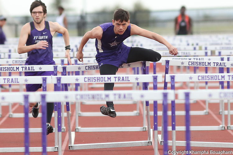 Chisholm Trail hosts the Ranger Invitational Track Meet on Friday, March 22, 2019. (Photo by Khampha Bouaphanh)