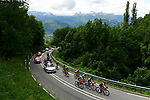 "The breakaway group 2'50"" ahead during Stage 5 of the 2018 Criterium du Dauphine 2018 running 130km from Grenoble to Valmorel, France. 8th June 2018.<br /> Picture: ASO/Alex Broadway 
