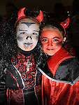 Lauren Geraghty and Lucy Rogers at the Halloween celebrations at Drogheda Town Centre. Photo:Colin Bell/pressphotos.ie