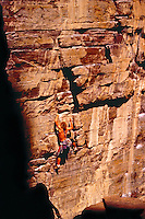 700-21832<br /> © Dale Sanders<br /> Man Rock-Climbing<br /> Banff National Park<br /> Alberta, Canada                Model Released