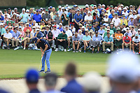 Justin Rose (ENG) on the 2nd green during the 2nd round at the The Masters , Augusta National, Augusta, Georgia, USA. 12/04/2019.<br /> Picture Fran Caffrey / Golffile.ie<br /> <br /> All photo usage must carry mandatory copyright credit (© Golffile | Fran Caffrey)
