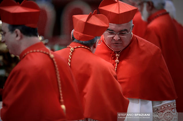 Brazilian cardinal Orani Joao Tempesta .Pope Francis leads a consistory for the creation of five new cardinals  at St Peter's basilica in Vatican.  from countries  : El Salvador, Laos, Mali,Sweden and Spain.<br /> Cardinal Gregorio Rosa Chavez from Salvador;Cardinal Louis-Marie Ling Mangkhanekhoun from Laos;Cardinal Anders Arborelius from Sweden;Cardinal Jean Zerbo from Mali;Cardinal Juan José Omella of Spain on June 28, 2017