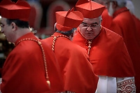Brazilian cardinal Orani Joao Tempesta .Pope Francis leads a consistory for the creation of five new cardinals  at St Peter's basilica in Vatican.  from countries  : El Salvador, Laos, Mali,Sweden and Spain.<br /> Cardinal Gregorio Rosa Chavez from Salvador;Cardinal Louis-Marie Ling Mangkhanekhoun from Laos;Cardinal Anders Arborelius from Sweden;Cardinal Jean Zerbo from Mali;Cardinal Juan Jos&eacute; Omella of Spain on June 28, 2017