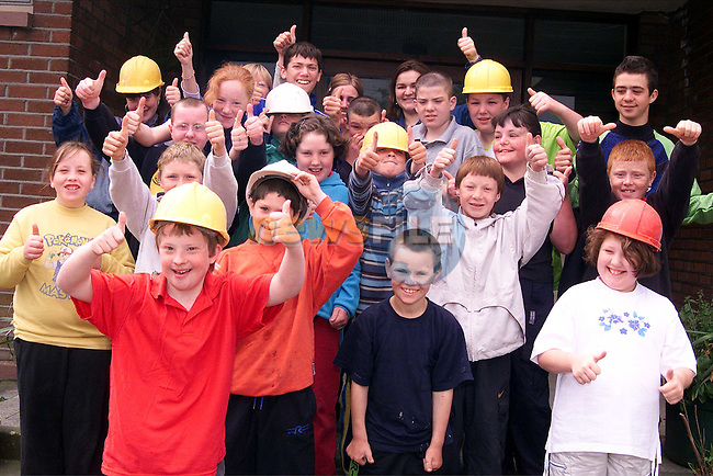 Pupils from St. Ita's School where building works are going on at the moment..Picture: Paul Mohan/Newsfile