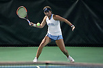 21 February 2017: UNC's Makenna Jones. The University of North Carolina Tar Heels hosted the Appalachian State University Mountaineers at the Cone-Kenfield Tennis Center in Chapel Hill, North Carolina in a Women's College Tennis match. North Carolina won the match 6-1.