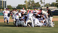 The Scottsdale Scorpions defeated the Peoria Javelinas, 3-2, to win the Arizona Fall League championship at Scottsdale Stadium, Scottsdale, AZ - 11/20/2010.Photo by:  Bill Mitchell/Four Seam Images..