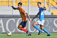 Andrea Tabanelli of Lecce challenges for the ball with Fabian Ruiz of Napoli <br /> Lecce 22-09-2019 Stadio Via del Mare <br /> Football Serie A 2019/2020 <br /> US Lecce - SSC Napoli <br /> Photo Carmelo Imbesi / Insidefoto