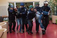 2014/10/02 Berlin | Räumung Flüchtlinge im DGB-Haus