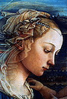 Renaissance Art:  Filippo Lippi--Our Lady Worshipping the Child.  Galleria Uffizi.