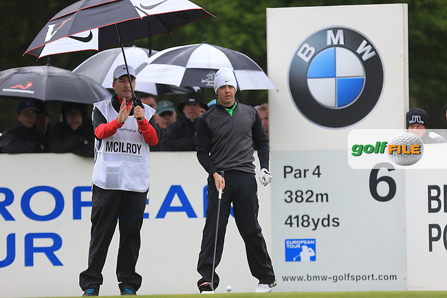 Rory McIlroy (NIR) on the 6th during round 2 at the BMW PGA Championship 2013, Wentworth Club, Virginia Water, Surrey, England. 24/5/13.Picture:  Fran Caffrey/www.golffile.ie