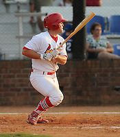 Outfielder Chris Edmondson (11) of the Johnson City Cardinals in a game against the Kingsport Mets on July 17, 2010, at Howard Johnson Field in Johnson City, Tenn. Photo by: Tom Priddy/Four Seam Images