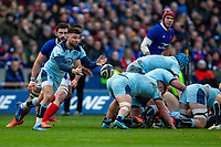 8th March 2020; Murrayfield Stadium, Edinburgh, Scotland; International Six Nations Rugby, Scotland versus France; Ali Price of Scotland clears the ball