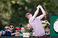 Justin Rose (ENG)  in action on the 9th hole during the first round of the 76 Open D'Italia, Olgiata Golf Club, Rome, Rome, Italy. 10/10/19.<br /> Picture Stefano Di Maria / Golffile.ie<br /> <br /> All photo usage must carry mandatory copyright credit (© Golffile | Stefano Di Maria)