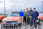 Gerard McElligott with his 1973 Mercedes 350SL, also in picture, Tommy Fitzmaurice, Johnny Mahony, Francis Bennet and Jim Wall Pictured at the Vintage car rally in Ballybunion on Sunday