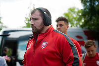 Fraser Balmain and the rest of the Gloucester Rugby team arrive at Allianz Park. Gallagher Premiership Semi Final, between Saracens and Gloucester Rugby on May 25, 2019 at Allianz Park in London, England. Photo by: Patrick Khachfe / JMP