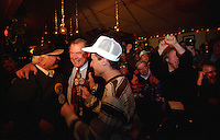 Former Green Bay Packer guards Fuzzy Thurston and Jerry Kramer are interviewed at Fuzzy's bar in Green Bay during the Packers 1996-97 Super-Bowl winning playoff run.