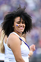 SEATTLE, WA - SEPTEMBER 14: Washington Cheer member Kennedy Greer entertained fans during the college football game between the Washington Huskies and the Hawaii Rainbow Warriors on September 14, 2019 at Husky Stadium in Seattle, WA.