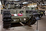 Churchill MK V tank in the Overloon War Museum, Boxmeer, The Netherlands