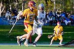 Rancho Santa Margarita, CA 04/30/10 - Garrett Parsons (Santa Margarita #16) and Lucas Gradinger (Torrey Pines #6) in action during the Rancho Santa Margarita CHS-Torrey Pines boys varsity lacrosse game.