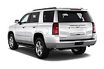 Car pictures of rear three quarter view of a 2019 Chevrolet Tahoe LS 5 Door SUV angular rear