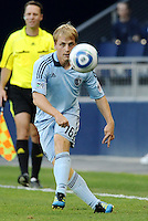 Sporting KC defender Seth Sinovic in action... Sporting Kansas City defeated Real Salt Lake 2-0 at LIVESTRONG Sporting Park, Kansas City, Kansas.
