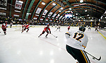 12 December 2009: University of Vermont Catamount forward David Pacan, a Freshman from Ottawa, Ontario, looks to center a pass against the St. Lawrence University Saints at Gutterson Fieldhouse in Burlington, Vermont. The Catamounts shut out their former ECAC rival Saints 3-0. Mandatory Credit: Ed Wolfstein Photo